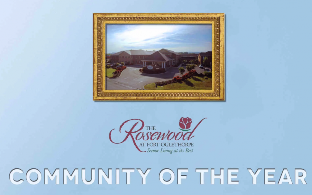 The Rosewood at Fort Oglethorpe's Community of the Year!